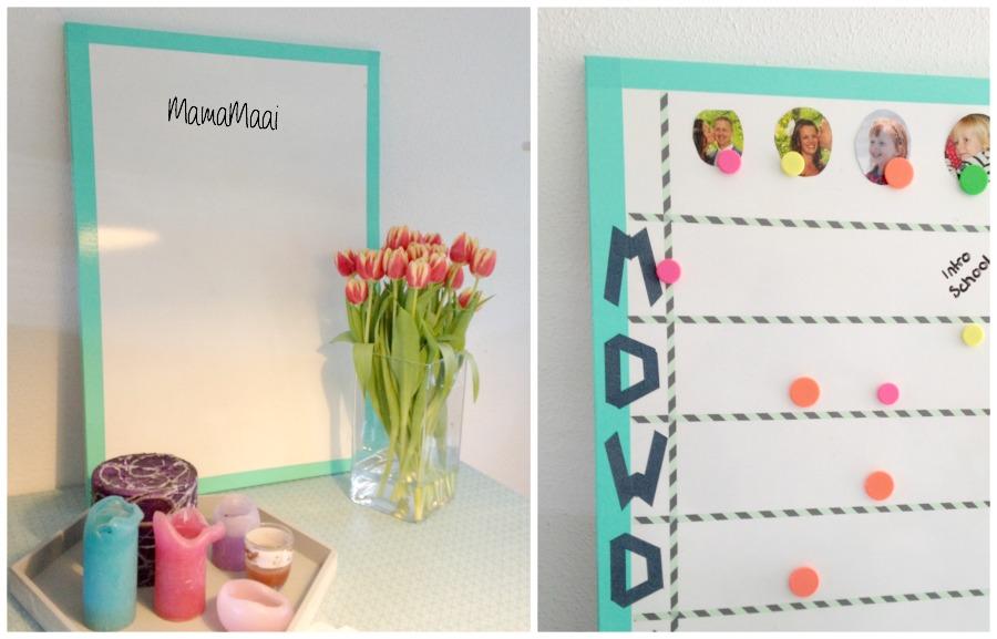 weekbord, weekplanning, schoolbord