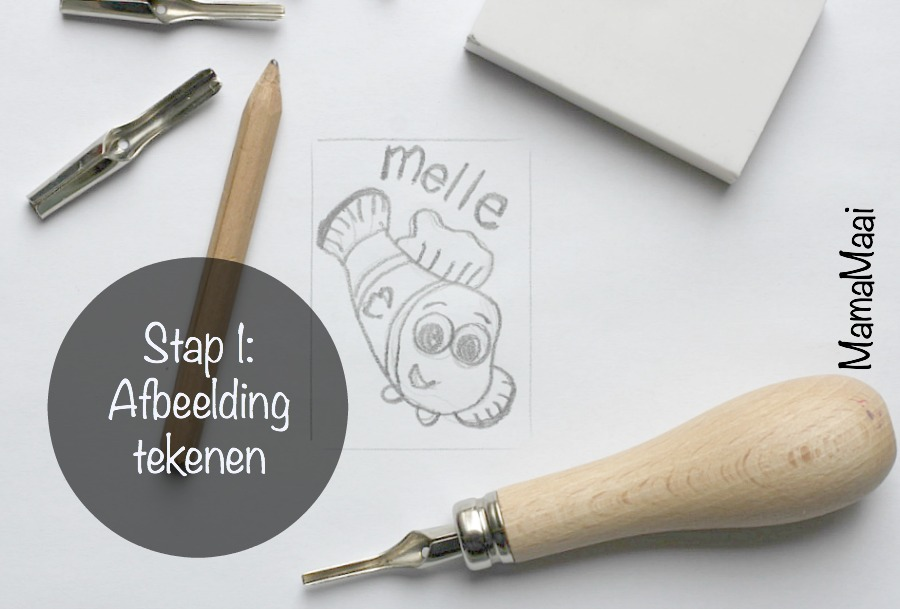DIY stempels maken stap 1