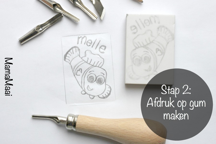 DIY stempels maken stap 2