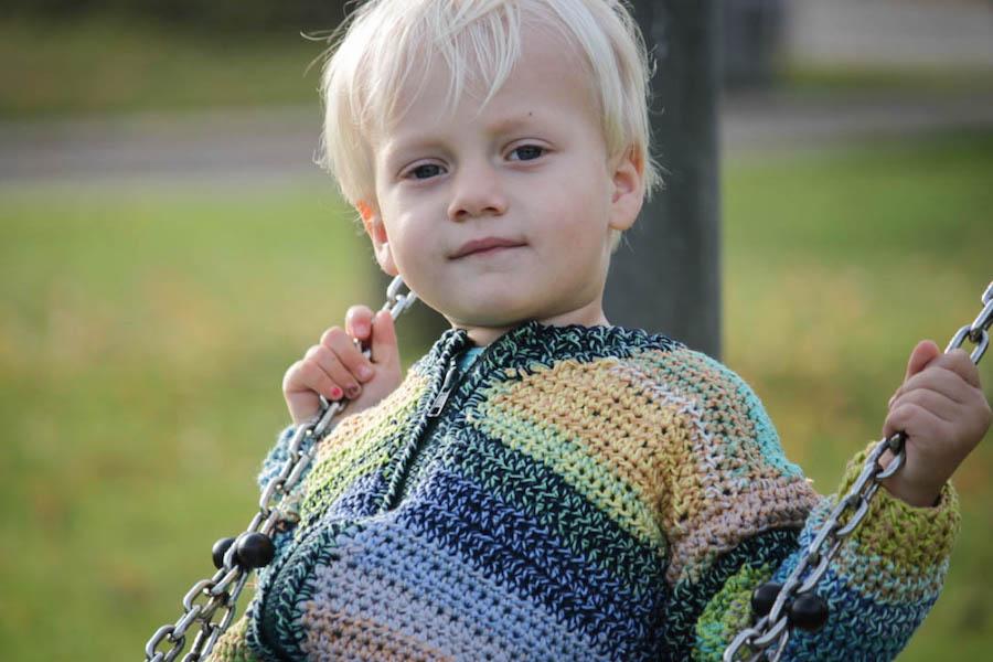 rits vestje haken, kindervestje haken, gratis patroon, crochet cardigan