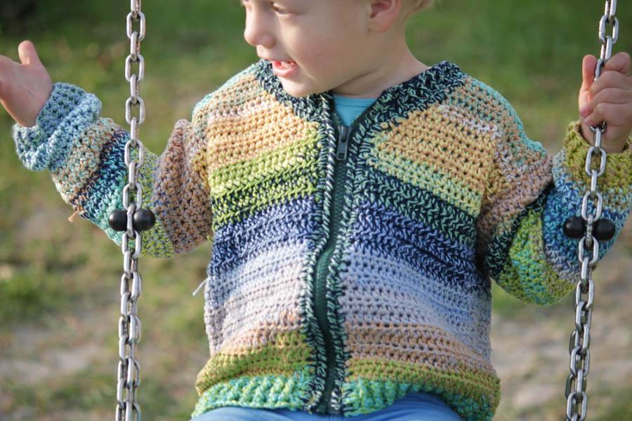 kindervestje haken, rits vestje, gratis patroon, haakpatroon rits vestje kind, crochet
