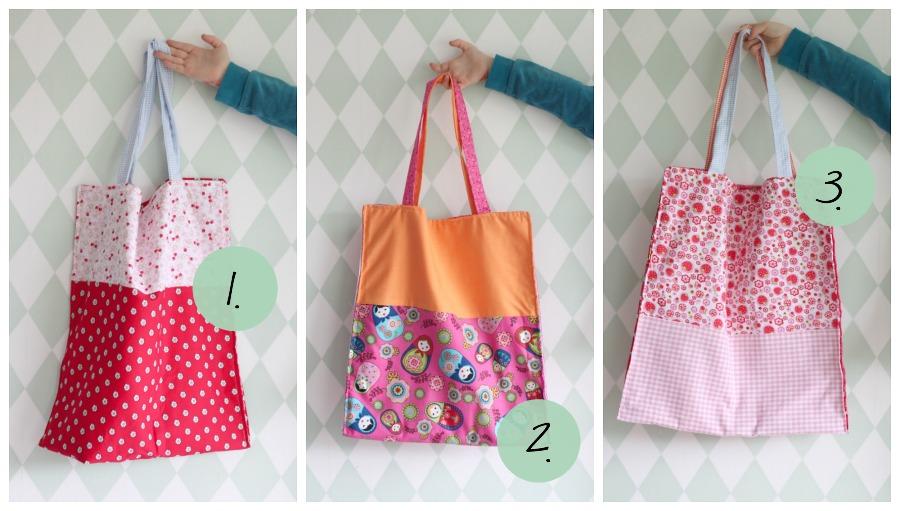 diy tote bag, crea hop, winactie, zelf katoenen tasje naaien, katoenen tasje, makkelijk naai project, naaiproject beginners