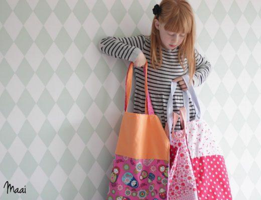 diy tote bag, katoenen tasje, shopping bag, tasje naaien