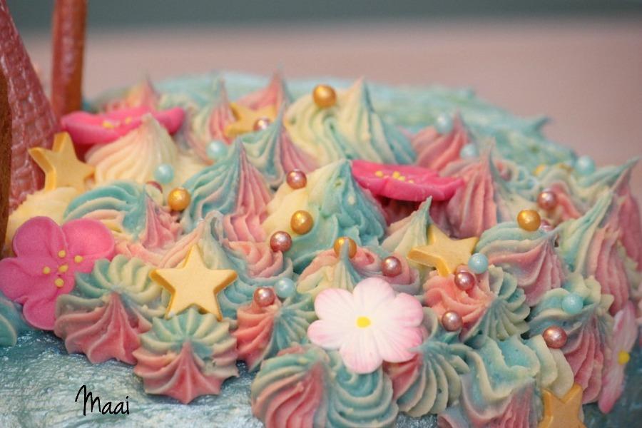 unicorn rainbow cake, eenhoorn taart, regenboog cake