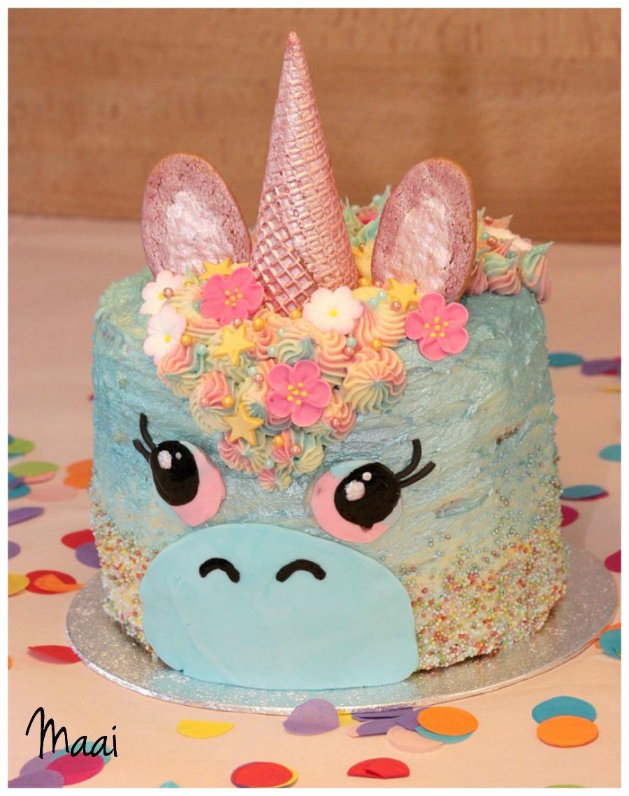 unicorn rainbow cake, regenboogcake, eenhoorntaart