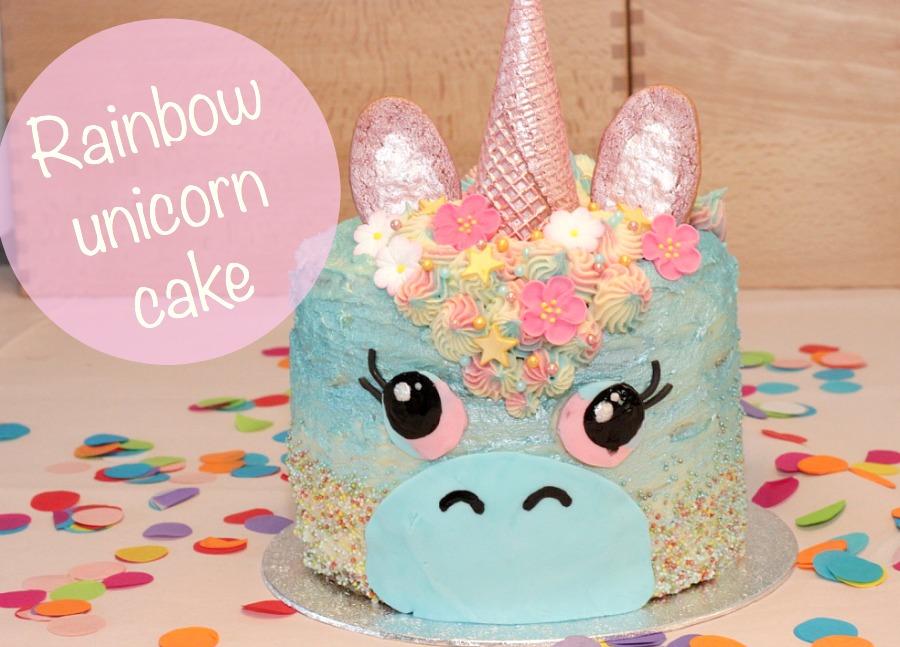 unicorn rainbow cake, regenboogtaart, eenhoorntaart