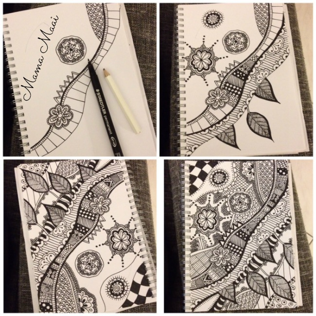 how to zentangles, doodles, tekenen